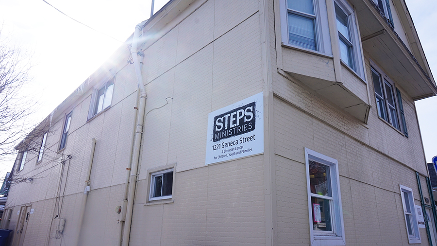 Steps Building Outside